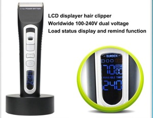 Professional 110V/220V Rechargeable Battery Electric Hair Trimmer for Men
