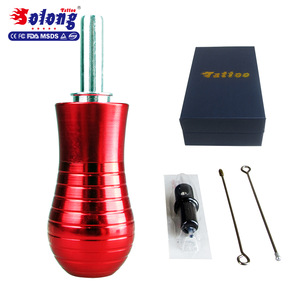 Solong Tattoo New Aluminum Tattoo Grip for All Coils & Rotary Tattoo Machine 30MM Full Adjustable with Needle G205