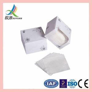 Spunlace viscose/cotton skin care cotton pads