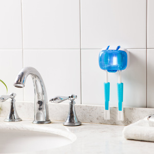 Sticky Auto and Battery UV Toothbrush Holder and Sterilizer Sanitizer