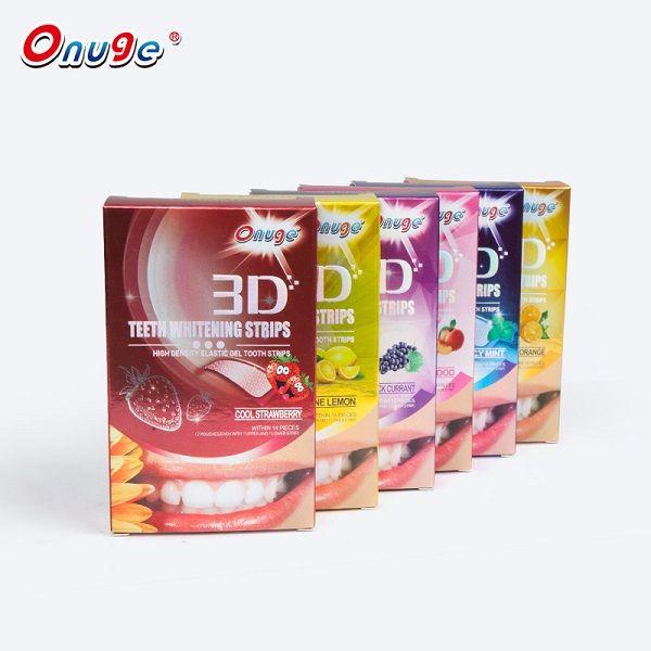 Oral Hygiene Fruit Flavor 3d Dental Bleaching Tooth Strip Whitening Teeth Whiten Strips