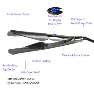 2 in 1 Hair Straightener and Curler Flat Iron Titanium Hair Flat Iron