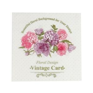 Good Offer Decorative Dotted Floral Design Vintage Card Promotional Napkin Paper