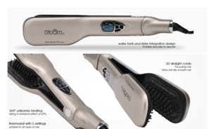 Newest OEM Hair Steam Hair Straightener Comb With LCD Display Electric Straightener Iron Brush Salon Equipment