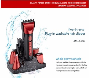 Professional 5 in 1 SET hair clipper hair trimmer nose trimmer shaver rechargeable
