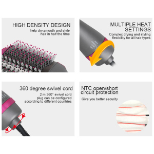 Secador De Pelo Custom Electric Hair Straight Brushes 1000W Hair Dryer Comb 110V 220V Hair Curler one Step 3 in 1 Hot Air Brush