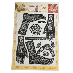 self adhesive glitter tattoo templates henna temporary tattoo stencils