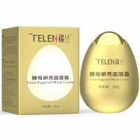 Telen Wholesale Egg Shell Moisturizing Firming Yeast Facial Mask Cream
