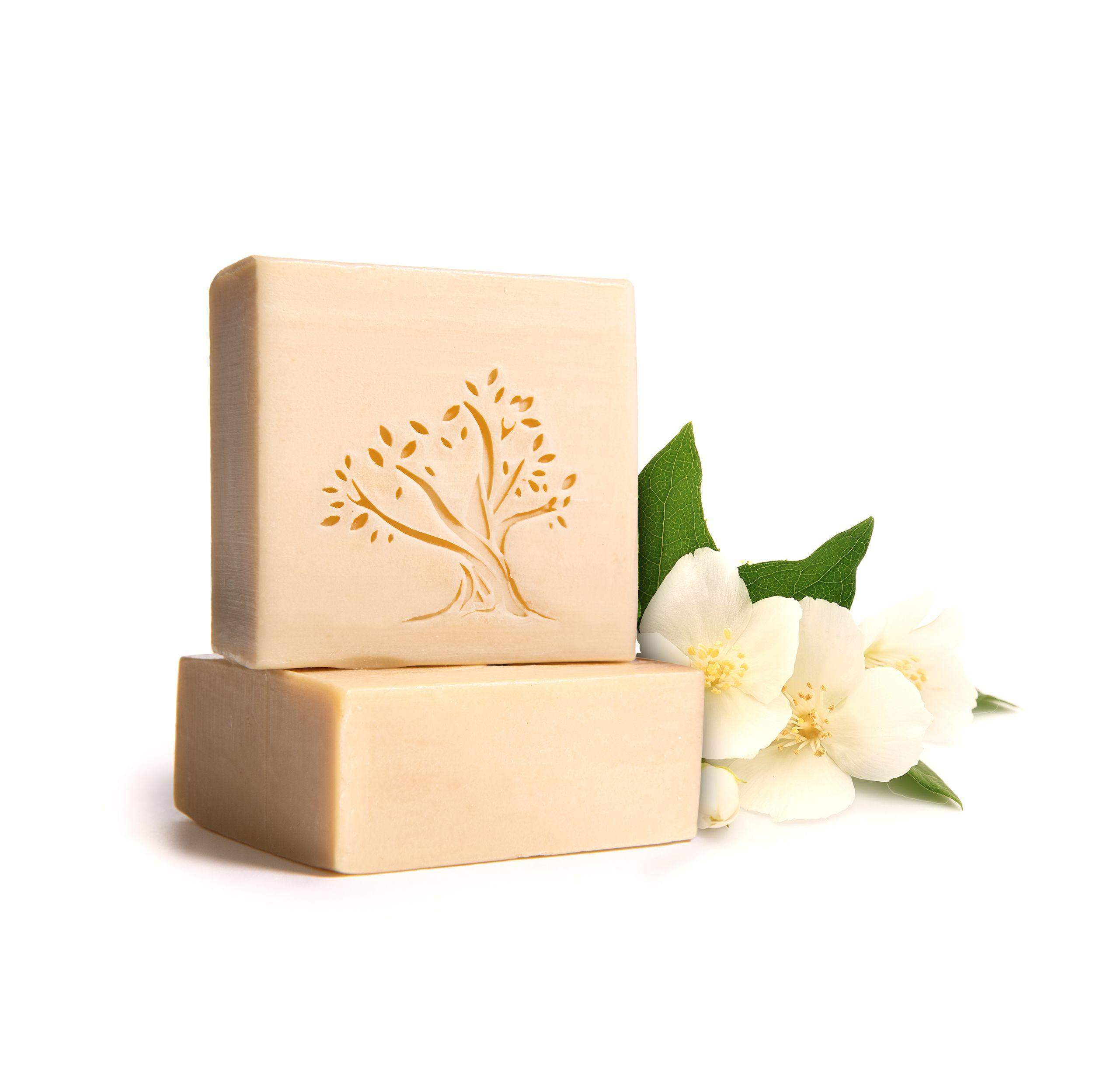 Le Joyau d'Olive - Luxury Pure Olive Oil Soap - Natural Handmade Bar for Face & Body - 1-Pack – Jasmine Oil bath bar