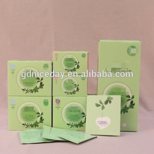 Active oxygen negative ion extra care sanitary napkin in box packing high absorbenc