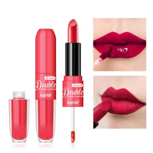 Lipstick  Non-stick Cup  Matte Lip Stick and Lip Gloss 2 in 1 for Beauty Lip