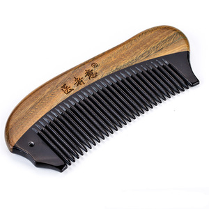 long handle horn tooth sandalwood comb wood horn comb