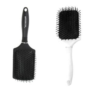 Masterlee Brand Wholesale Plastic Massage Frosted Hair Brush Plastic Bristle Hair Brush