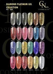 nail polish uv gel Diamond flake platinum professional Gel polish ...