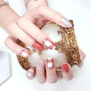 OEM Custom Korea Flower Self adhesive 3D Nail Art Wraps Finger Decoration Decal Sticker