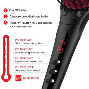 Quazhi Electric Hair Straightening Brush, Ceramic Hair Straightener, Straight Hair Styling