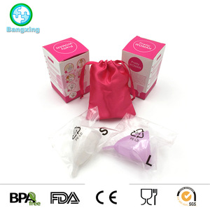 ROHS BPA Free Reusable And Washable Lady Silicone Menstrual Cup