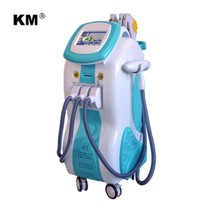 Weifang KM laser! Color touch screen multifunctional beauty equipment/ Elight IPL RF ND Yag laser OPT SHR