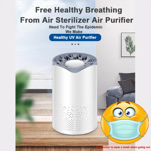 Portable Ozone Air Purifiers/ Sainbeauty Portable UVC LED Ultraviolet Disinfection Ozone Household Germicidal Sterilization Lamp Charging
