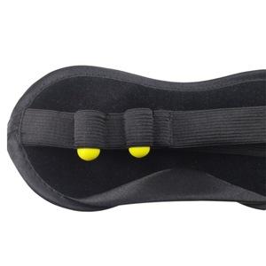 Black sleep mask with ear plugs