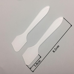 clear facial cream plastic cosmetic spatula for skin care tool