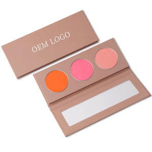Cosmetic Pressed Powder Blusher Makeup blushing No Logo Blush DIY High Pigment Organic Private Label Blush Palette