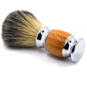 Wholesale Custom Logo Handmade Mens Traveling Badger Hair Shaving Brush with Wood Handle