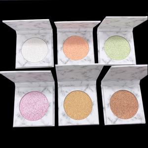 wholesale single vegan Face makeup glitter oem shimmer private label pressed highlighter pressed  powder