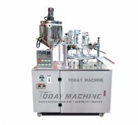 Facial Cleanser Tube Filling Sealing Machine For Laminated Tube