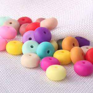9mm 12mm 15mm 17mm BPA free silicone chewable Beads