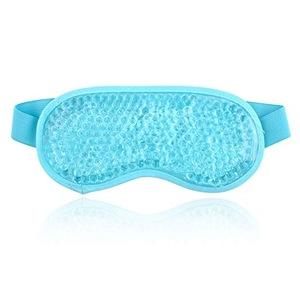 Blue gel beads eye sleep mask for beauty eye mask gel