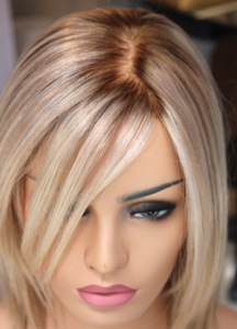 Hot Indian Ombre Blonde Human Hair Short Bob Wig For White Women Dezhou Leimi Import And Export Limited Beautetrade