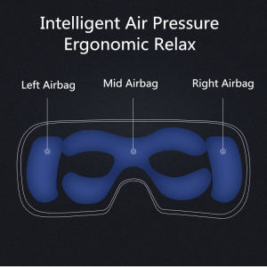 Hot seller electric smart vibration eye massage 4d smart airbag vibration eye massager eye care