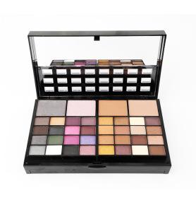 Ladies Eyeshadow Powder Lip Gloss Blusher Makeup Sets Women Cosmetic Case