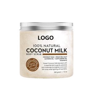Natural Deep Cleansing Exfoliator Coconut Milk Body Scrub