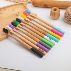 Organic Ecofriendly Round Handle Biodegradable New Product Bamboo Toothbrush