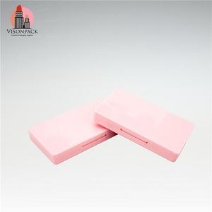 Pink Square Plastic Eye Shadow Case