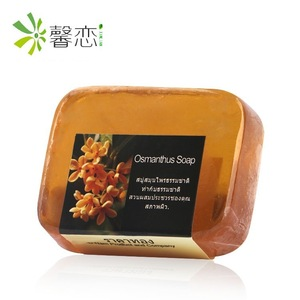 Rectangular Thai soap custom Natural sweet osmanthus handmade essential oil rose olive soap making supplies