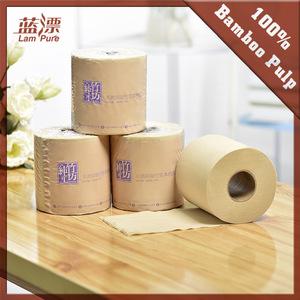 Unbleached Natural Tissue Paper Silk Soft Toilet Tissue