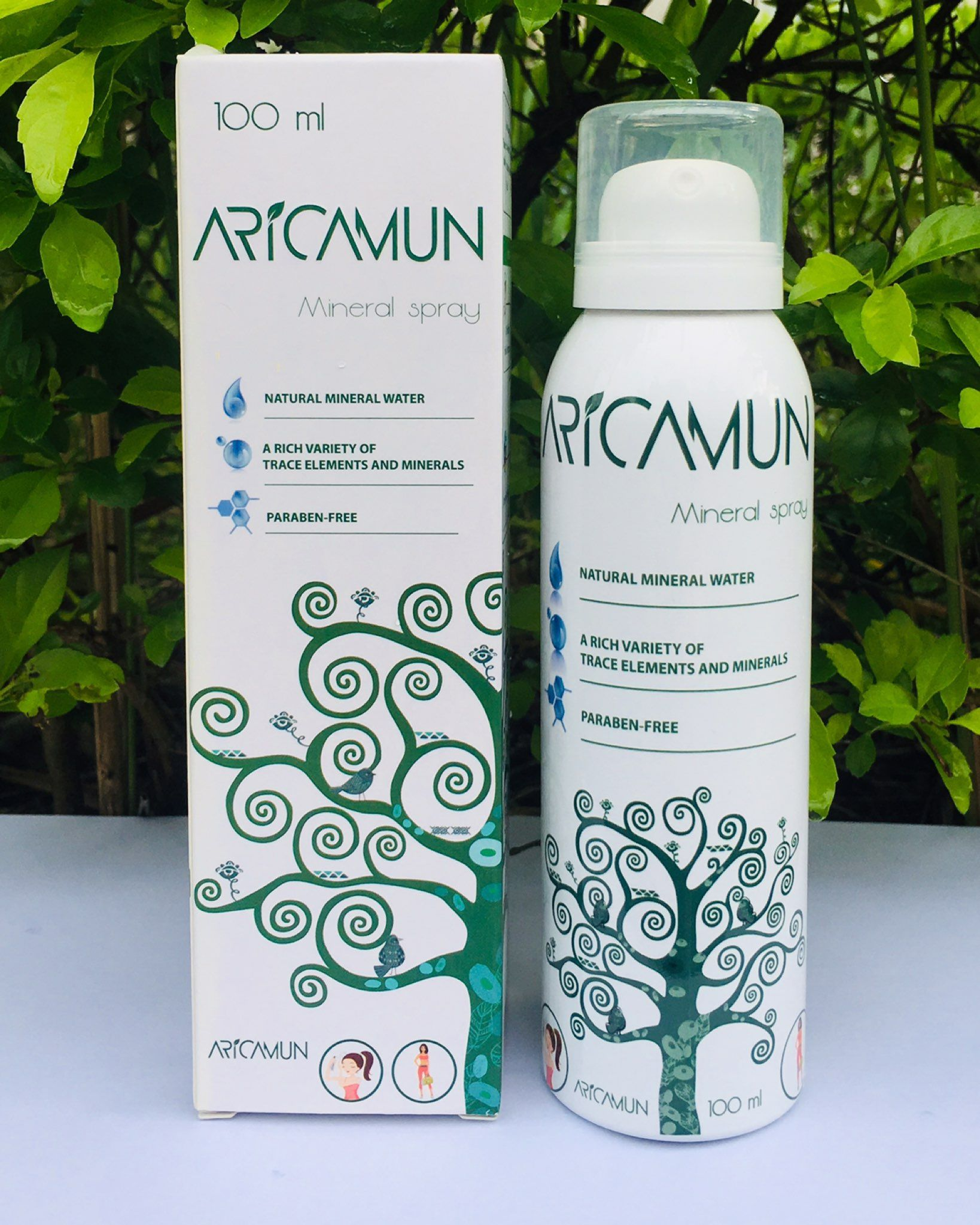 Aricamun Mineral Spray with fine particles for your soft skin