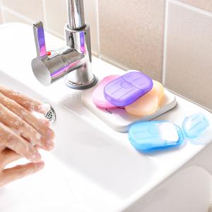 2021 Eco-friendly 20pcs Disposable Dissolvable Paper Soap Sheets Hand Soap Sheets Paper