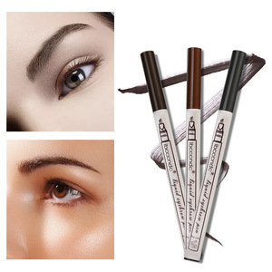 3 Colors Liquid Eyebrow tattoo Pencil 3 Head Fork Tips Long Lasting Waterproof Microblading Eyebrow Tattoo Pen