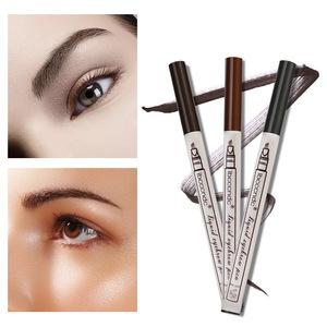 3 Colors Liquid Eyebrow tattoo Pencil 3 Head Fork Tips Long Lasting Waterproof Microblading Eyebrow Tattoo Pen
