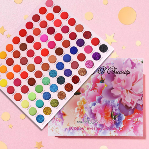 80 Colors Shimmer Glitter Pigmented Eye shadow Private Label Eyeshadow Palette