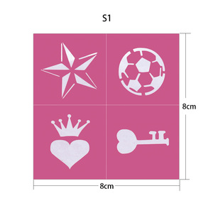 Best Selling Airbrush Glitter Tattoo Stencils sticker for Body Painting Tattoo