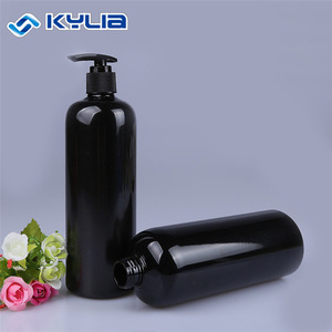 black PET 500ml body wash shampoo bottle