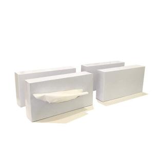 Dissolvable cube box perfumed bamboo pulp facial tissue paper towel hand