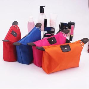 Dumpling Makeup Bag Solid Color Polyester Cosmetic Bag Around Soft Portable Korean Version Make Up Bag