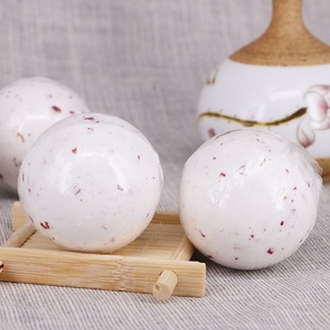 High essence oil Rose dry flower SPA bath fizzy/bombs whitening moisturizing romantic bath salt bubble OEM