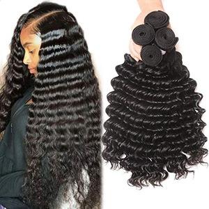 """Human hair weft, Free sample 7a 22"""" mink brazilian deep wave hair piece virgin hair bundles"""